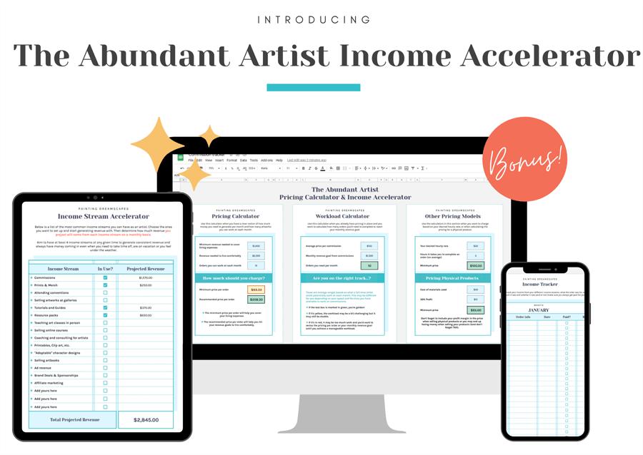 Abundant Artist Income Accelerator new bonus