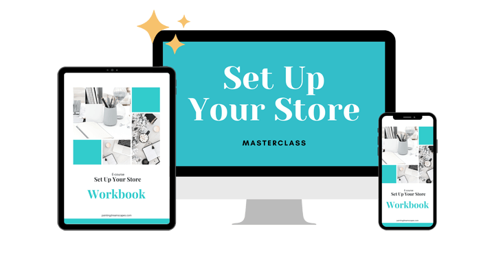 Set up your store responsive device showcase